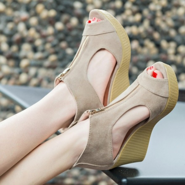 New Style Sandals Woman Summer Platform Wedges Vintage High Heels Open Toe With Zippers Sandalias Zapatos Mujer Extra Image 6