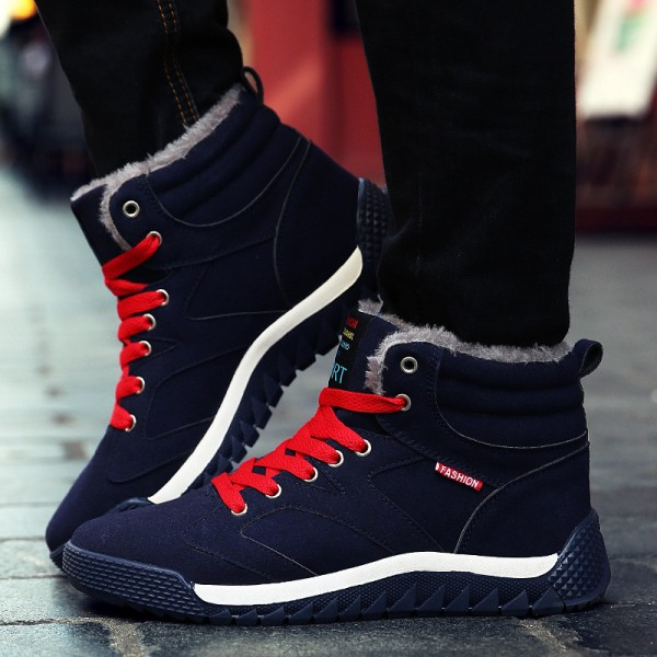New Warm Winter Boots Men Snow Boots With Fur Keep Warm Platform Men Winter Snow Shoes Waterproof Ankle Boots Big Size Extra Image 4