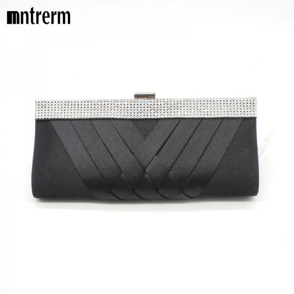 New Weave Design Handmade Evening Clutches Wedding Bridesmaid Party Clutches Prom Box Shoulder Bags Women Thumbnail