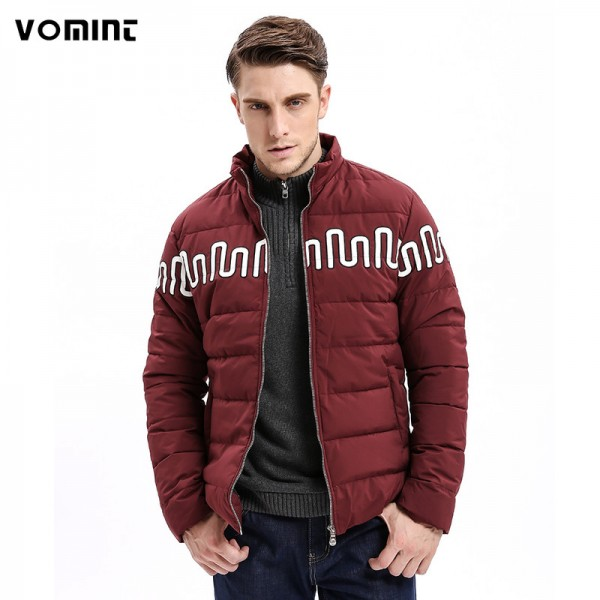 New Winter Fashion Men Parkas Coat Jacket Stand Collar Regular Fit Printing Fashion Smart Casual Business Male Outwear Extra Image 1