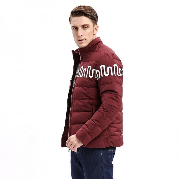 New Winter Fashion Men Parkas Coat Jacket Stand Collar Regular Fit Printing Fashion Smart Casual Business Male Outwear Extra Image 4