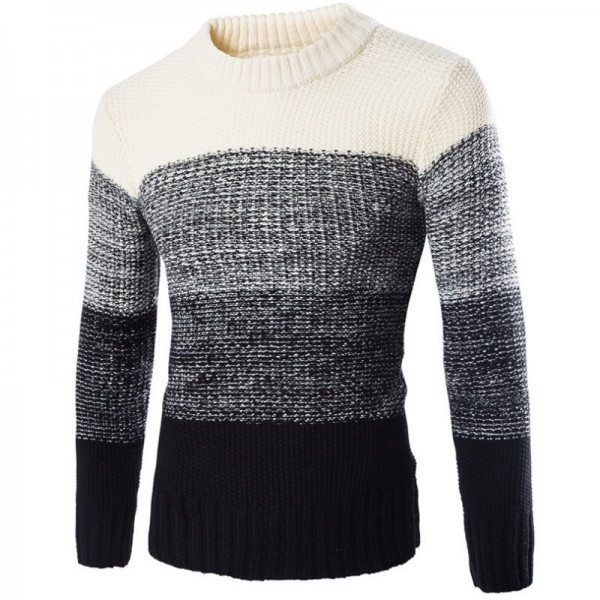 New Winter Fashion Top Personality High Grade Men New England Pullovers Leisure Casual Mens Cashmere Sweater