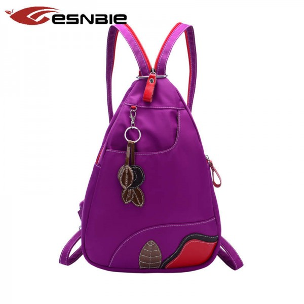 New Women Backpack Nylon School Bags For Teenage Girls Chest Packs High  Quality Shoulder Bags Women ... b28538f9fdb56