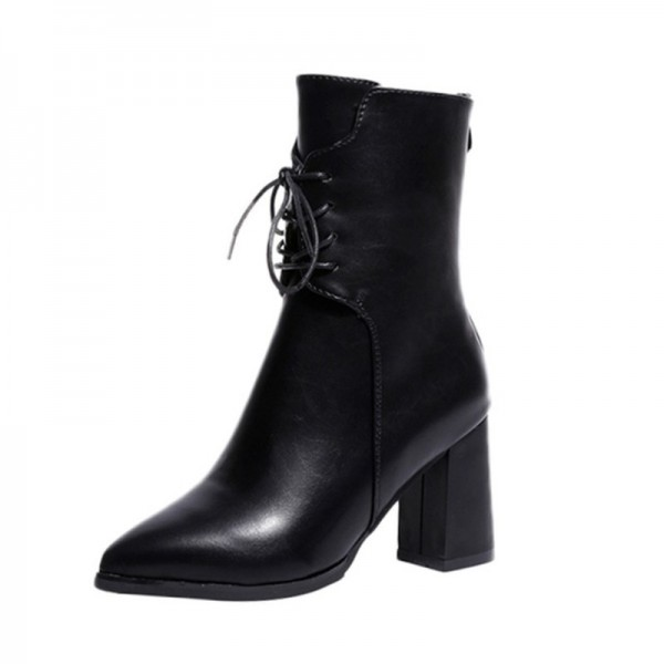 ff437f4bd47f8 ... Ankle Boots Womens Motorcycle Boots Autumn Shoes Women Winter leather; Black  Black ...
