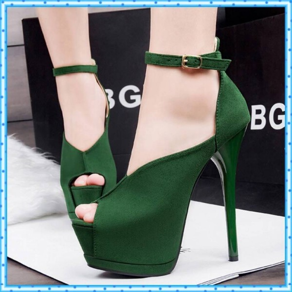 143149b126 New Women High Heel Party Shoes Peep Toe Ankle Straps Wedding Sandals Women