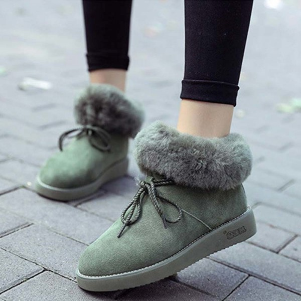 New women snow boots with bow women boots female girls fashion winter boot warm comfortable shoes woman hot sale