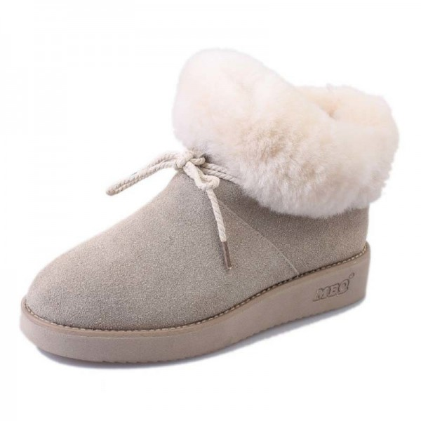 New women snow boots with bow women boots female girls fashion winter boot warm comfortable shoes woman hot sale Extra Image 3