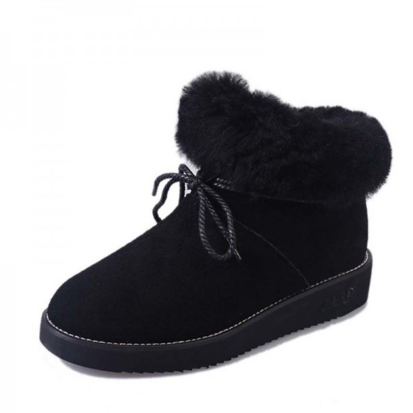 New women snow boots with bow women boots female girls fashion winter boot warm comfortable shoes woman hot sale Extra Image 4