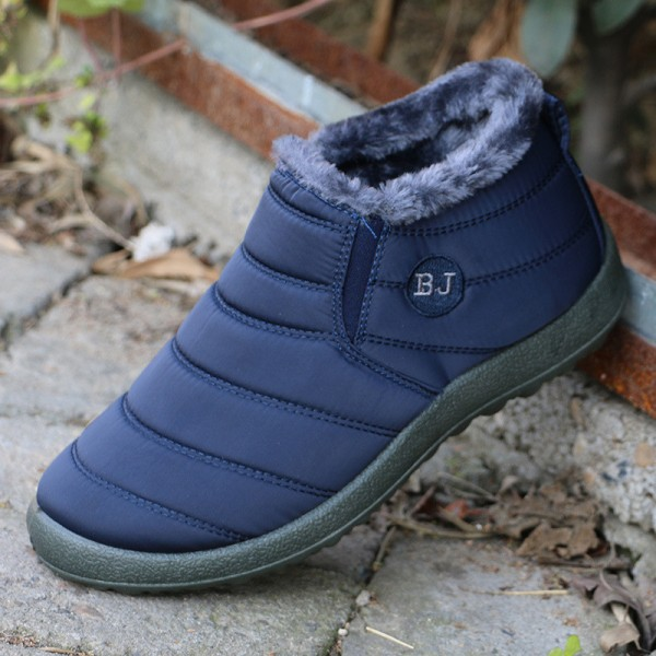 New Women Winter Shoes Solid Color Snow Boots Cotton Inside Anti Skid  Bottom Keep Warm Waterproof ... 2defca956a