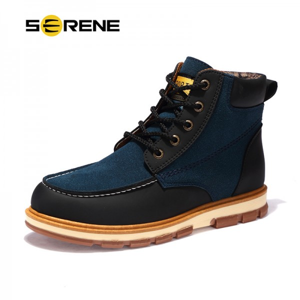 Newest Men Winter Boots High Quality Leather Wear Resisting Casual Shoes Working Fashion Men Boots Plus Size Shoes Extra Image 1