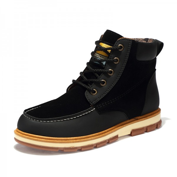 Newest Men Winter Boots High Quality Leather Wear Resisting Casual Shoes Working Fashion Men Boots Plus Size Shoes Extra Image 3