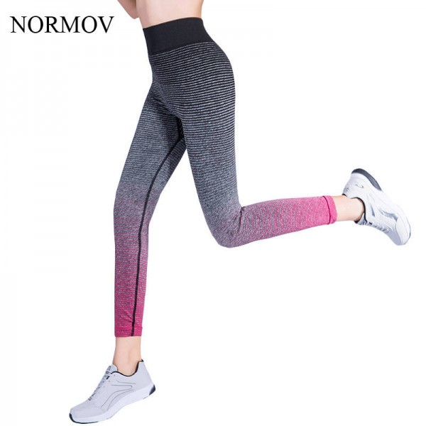 Normov Color Gradient Workout Leggings Activewear Elastic Stretch Leggings For Women Thumbnail