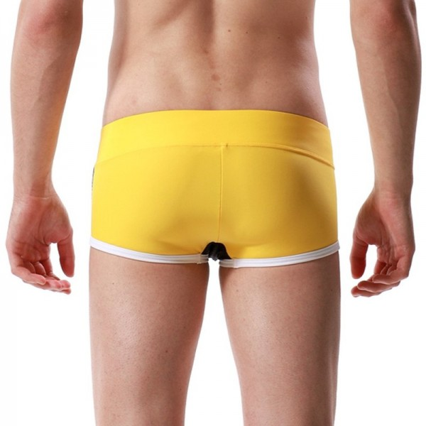 Nylon Breathable Bikini For Men Bulge Swimming Briefs Striped Swimwear Trunks Swimming Shorts For Males Extra Image 6