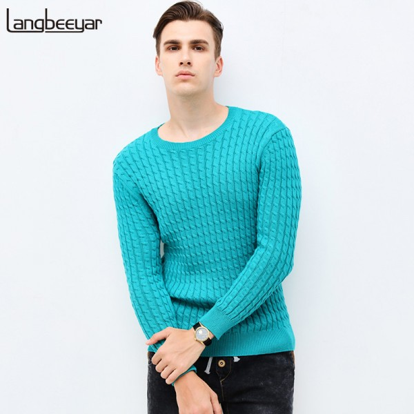 O Neck Slim Fit Pullover Cardigan For Men New Autumn Winter Clothing Trend Jacquard Sweater Knitted Sweatshirt Extra Image 1