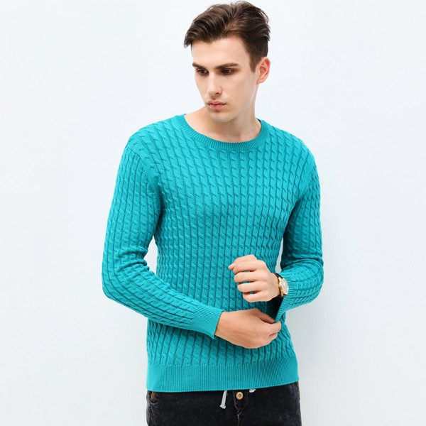 O Neck Slim Fit Pullover Cardigan For Men New Autumn Winter Clothing Trend Jacquard Sweater Knitted Sweatshirt Extra Image 4