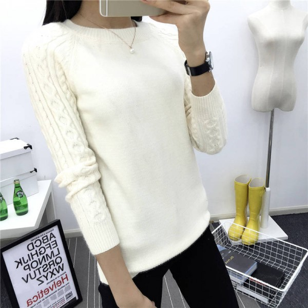 O Neck Twisted Flower Sweater Winter Cashmere Jumpers Long Sleeve Pullover For Women Extra Images 1