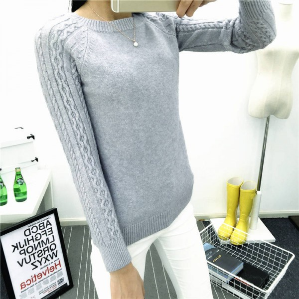 O Neck Twisted Flower Sweater Winter Cashmere Jumpers Long Sleeve Pullover For Women Extra Images 2