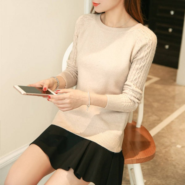 O Neck Twisted Flower Sweater Winter Cashmere Jumpers Long Sleeve Pullover For Women Extra Images 5