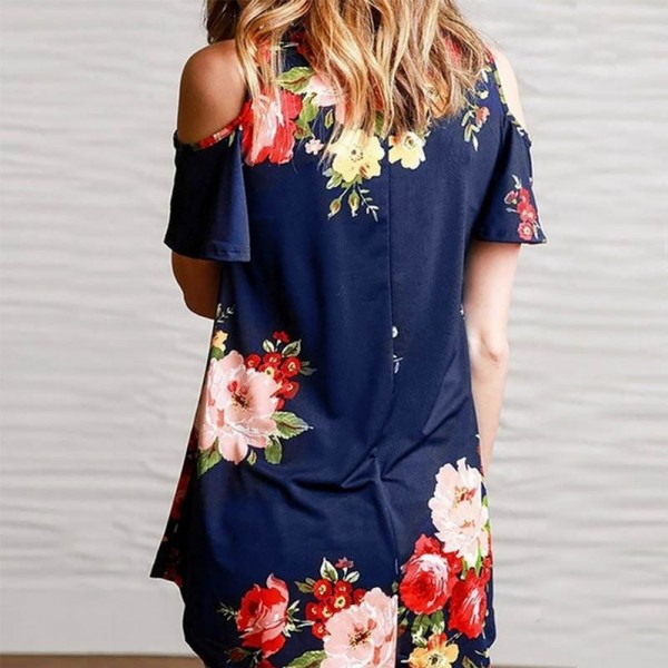 Off Shoulder Floral Printed Women Blouse Shirts 2018 Summer Loose Short Sleeve V Neck Blouses Elegant Female Blusas Extra Image 5