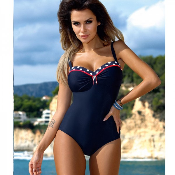 One Piece Swimsuit 2018 Swimwear Women Retro Striped Female Swimsuit Sexy Summer Dot Beach Wear Bathing Suit Monokini Extra Image 3