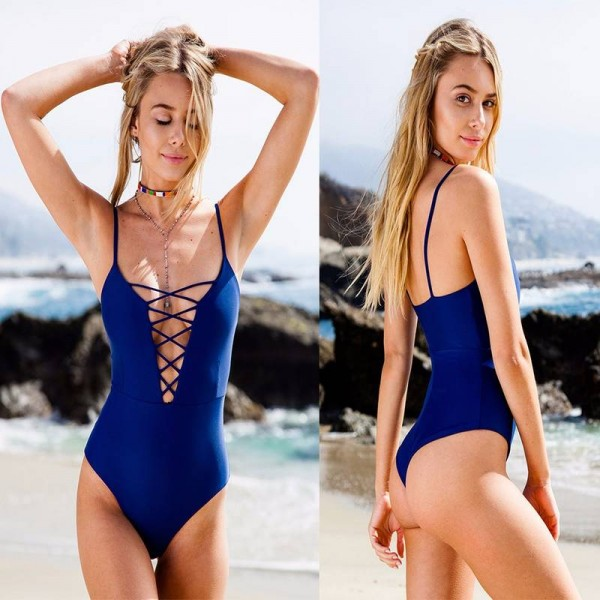 One Piece Swimsuit Bikini Summer Beach Vintage Bandage Monokini Swimsuit Sexy Bodysuit Bathing Swimsuit Thumbnail