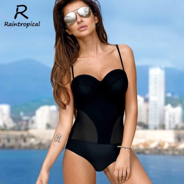 One Piece Swimsuit Sexy Women Push Up Swimwear Solid Bodysuit Bandage Cut Out Beach Bathing Suit Monokini Extra Image 6