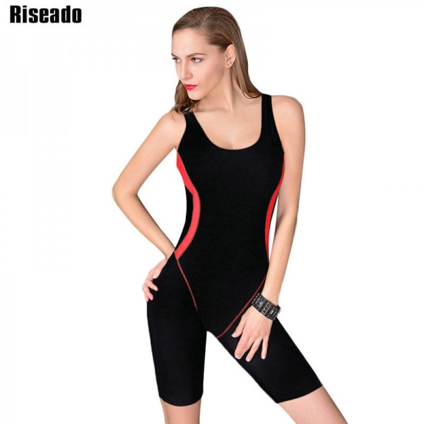 One Piece Swimsuit Sports Professional Brand Swimwear For Women Sexy Three Quarter Shorts Bathing Suits Thumbnail