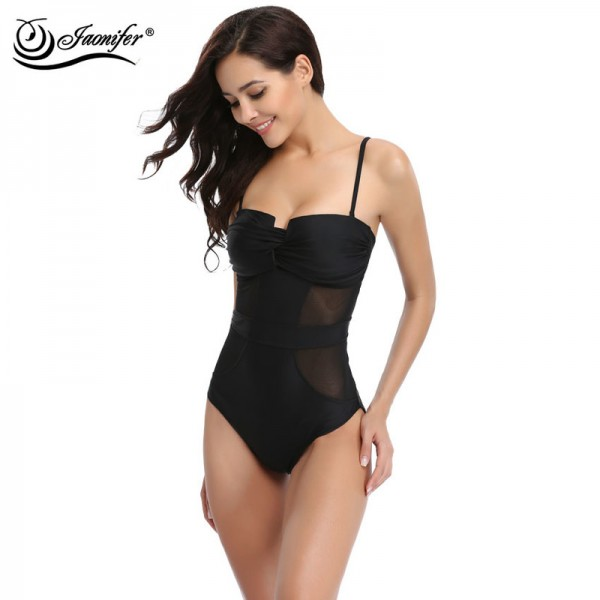 One Piece Swimsuit Women Mesh Style Vintage Beachwear Swimsuits Backless Swimming Bathing Suit for Women Extra Image 3