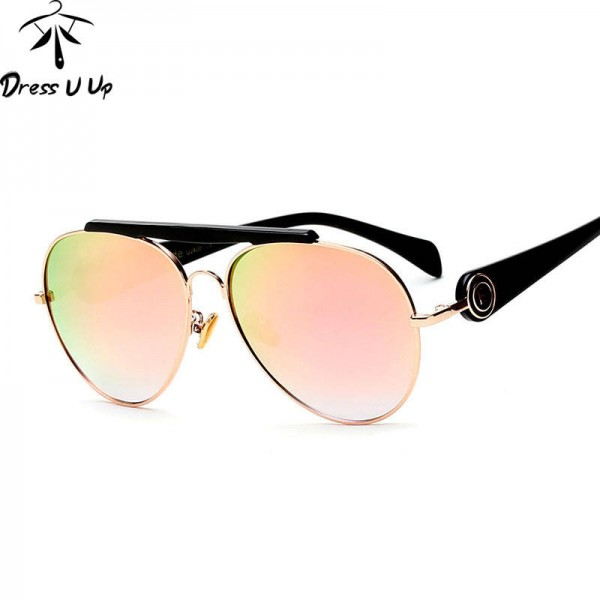 Original Pilot Sunglasses Exquisite Polarized Aviator Eye Wear UV400 Polarized Black Classic Shades For Women Extra Image 1