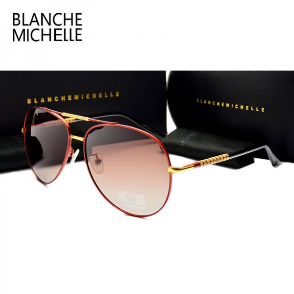 Oversized Aviator Sunglasses For Men High Quality Gradient Driving Shades Polarized UV400 Eyewear Extra Image 3