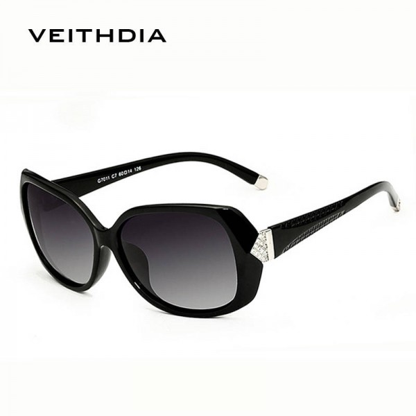 Oversized Polarized Sunglasses For Ladies Vintage UV400 Black Butterfly Classy Big Sun Shades For Women Extra Image 1