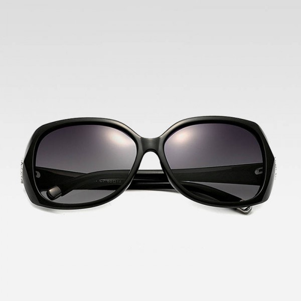 Oversized Polarized Sunglasses For Ladies Vintage UV400 Black Butterfly Classy Big Sun Shades For Women Extra Image 3