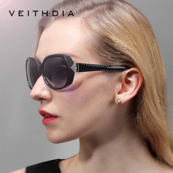 Oversized Retro Sunglasses Vintage Classy Carved Diamond Ladies Eyewear Accessories Polarized Large Goggles Extra Image 3