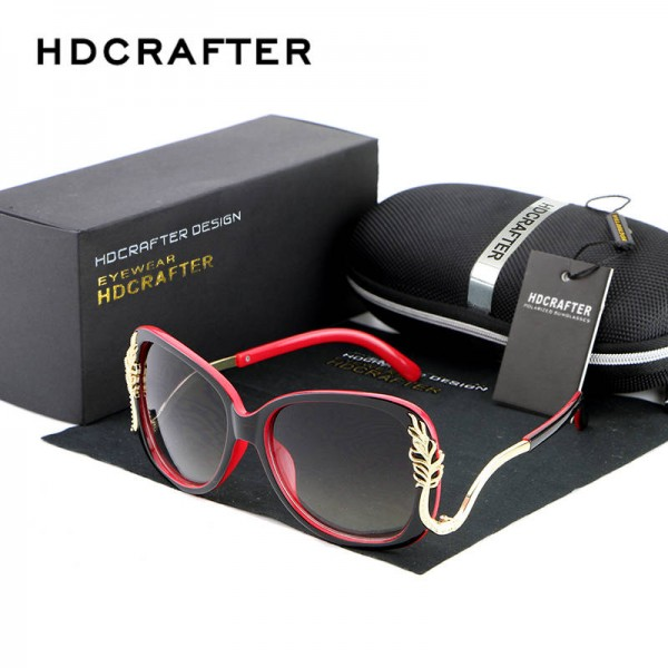 Oversized Square Sunglasses Driving Metal Frame Designer High Quality Polarized UV400 Shades For Women Extra Image 0