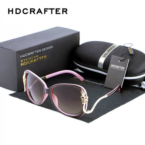Oversized Square Sunglasses Driving Metal Frame Designer High Quality Polarized UV400 Shades For Women Extra Image 1