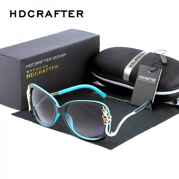 Oversized Square Sunglasses Driving Metal Frame Designer High Quality Polarized UV400 Shades For Women Extra Image 2