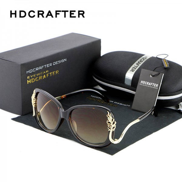 Oversized Square Sunglasses Driving Metal Frame Designer High Quality Polarized UV400 Shades For Women Extra Image 3