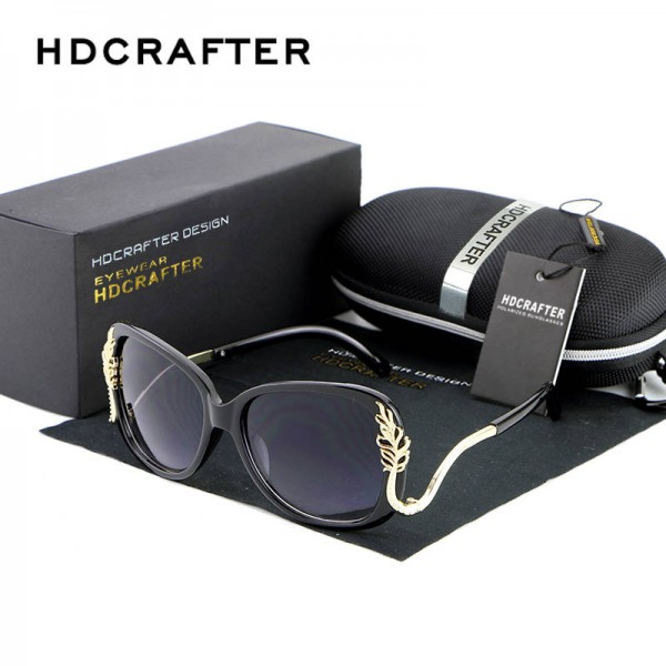 Oversized Square Sunglasses Driving Metal Frame Designer High Quality Polarized UV400 Shades For Women Extra Image 5