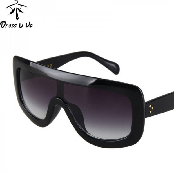 Oversized Square Sunglasses For Women Big Frame Designer Gradient Sun Shades Dress Up Female Eye Glasses Extra Image 2