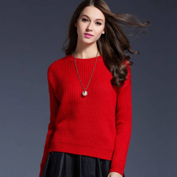 d6af4c7702 Oversized Women Pullover Sweater Loose Fit Korean Style Thick Knitted  Sweater For Women