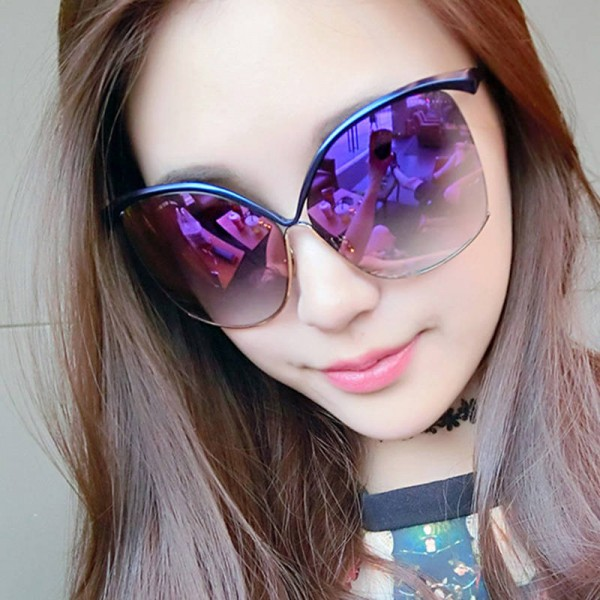 Oversized Women Sunglasses Luxury Cat Eye Big Frame Sexy Fashion Female Sun Shades Fully Customized Eyewear