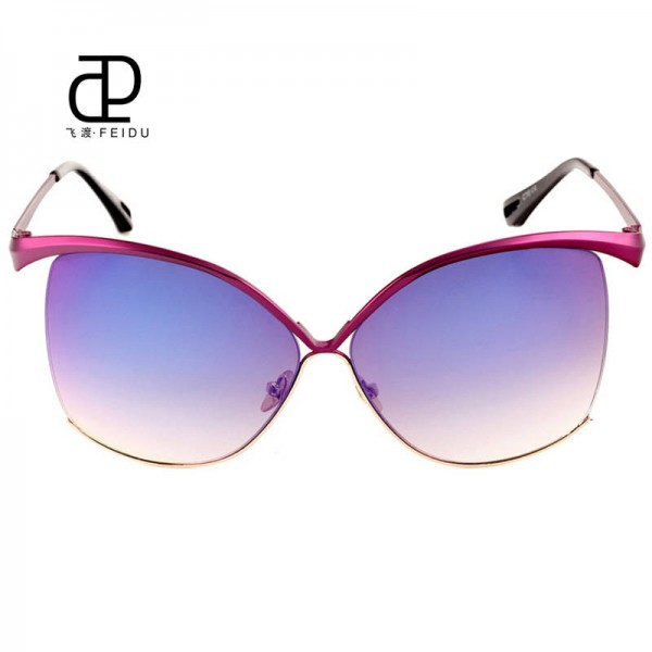 Oversized Women Sunglasses Luxury Cat Eye Big Frame Sexy Fashion Female Sun Shades Fully Customized Eyewear Extra Image 2