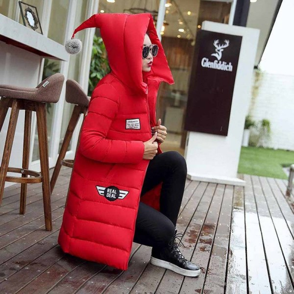 Parkas Hooded Thick Warm Cotton Down Waded Jackets For Women Thumbnail