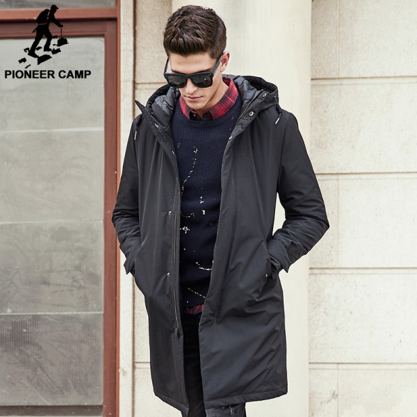 Pioneer Camp long winter Jacket men brand clothing male cotton Spring coat New top Quality black down Parkas men Extra Image 2