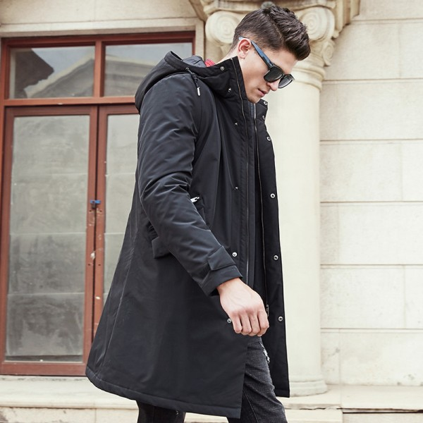 Pioneer Camp long winter Jacket men brand clothing male cotton Spring coat New top Quality black down Parkas men Extra Image 3