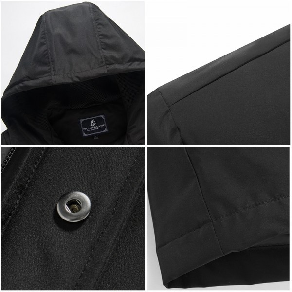 Pioneer Camp long winter Jacket men brand clothing male cotton Spring coat New top Quality black down Parkas men Extra Image 5