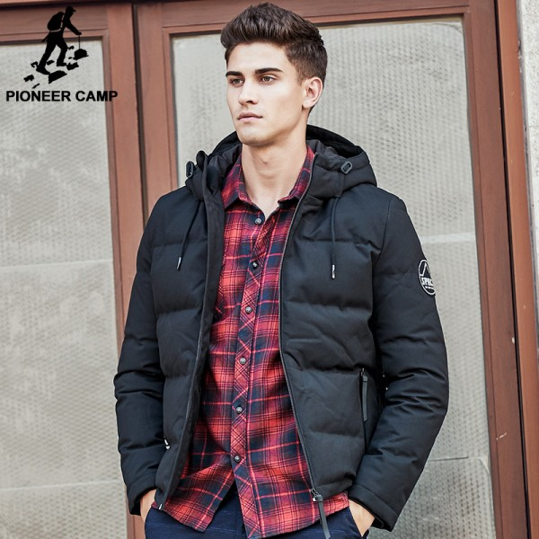 Pioneer Camp men down jacket brand puffer down jacket men casual Russian winter duck down coat snow warm parkas for men Extra Image 1