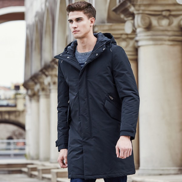 Pioneer Camp New arrival autumn winter  jacket men brand clothing cotton thick long coat male quality fashion parkas Extra Image 2