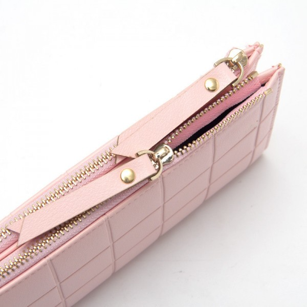 Plaid Women Wallet Purse For Women With Double Zipper Cute Little Clutch Phone Bag Leather Purse Extra Image 5