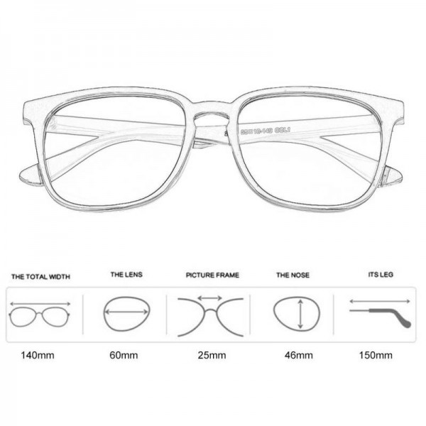 Plain Glass Spectacles Casual Vintage Full Rim Round Shaped Eyeglasses Eye Accessories Full Frame Glasses Extra Image 5